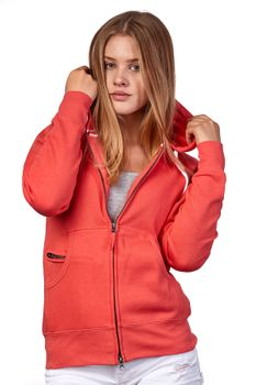 Damen Sweatjacke mit Kapuze Dallas – Bild 1