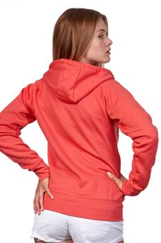 Damen Sweatjacke mit Kapuze Dallas – Bild 2