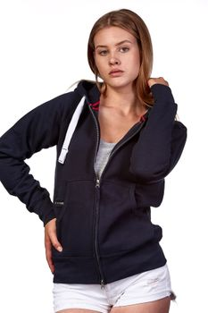 Damen Sweatjacke mit Kapuze Dallas – Bild 23