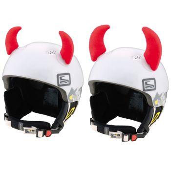 Crazy Ears Helm Accessoires Hörner Teufel Rot – Bild 1