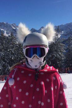 Crazy Ears Helm Ski-Ohren Katze Tiger Lux Frosch – Bild 11