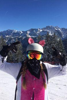 Crazy Ears Helm Ski-Ohren Katze Tiger Lux Frosch – Bild 3