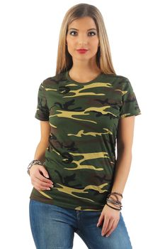 Damen Camouflage T-Shirt Sunset – Bild 4