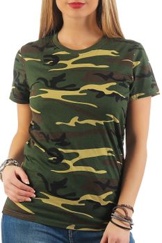 Damen Camouflage T-Shirt Sunset – Bild 1