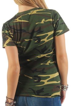 Damen Camouflage T-Shirt Sunset – Bild 3