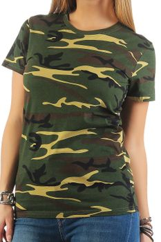 Damen Camouflage T-Shirt Sunset – Bild 2
