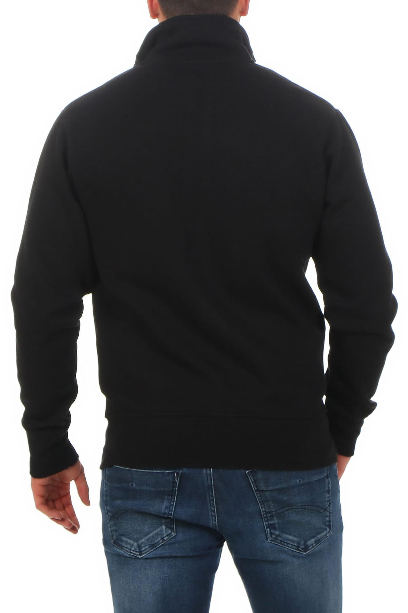 c768a2b9ec6e46 Herren Sweatshirt Jacke ohne Kapuze Houston – Bild 3