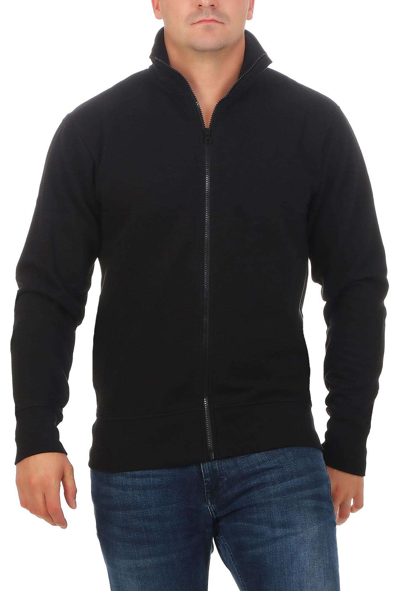 b310f9e2e731ca Herren Sweatshirt Jacke ohne Kapuze Houston