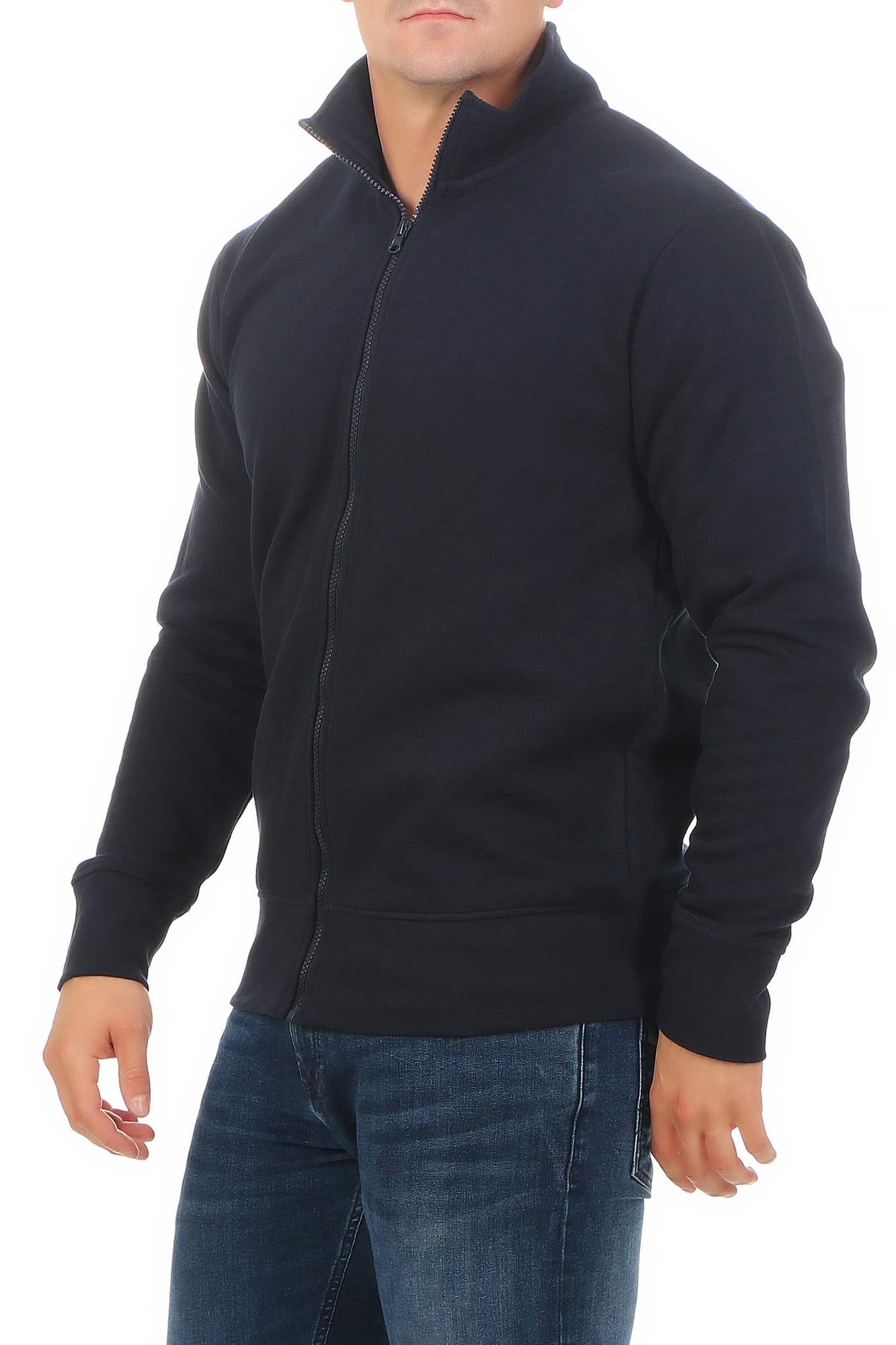 Details zu Herren Sweatjacke ohne Kapuze Zip Jacke Reißverschluss Kragen Zipper Sweatshirt