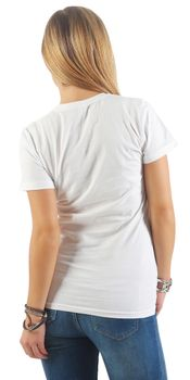 Damen Basic T-Shirt Sunset – Bild 9