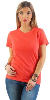 Damen Basic T-Shirt Sunset – Bild 4