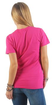 Damen Basic T-Shirt Sunset – Bild 11