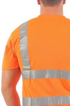 Herren Warnschutz T-Shirt mit Reflexstreifen EN ISO 20471 Avenue – Bild 3