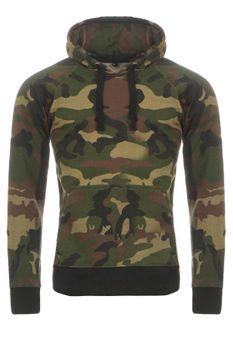 Herren Camouflage Kapuzenpullover Alpha – Bild 1