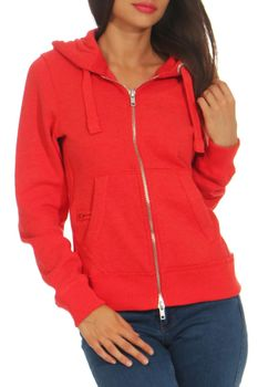 Damen Sweatjacke mit Kapuze London – Bild 5