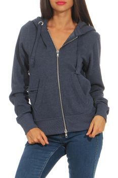 Damen Sweatjacke mit Kapuze London – Bild 17