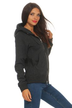 Damen Sweatjacke mit Kapuze London – Bild 14