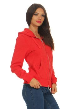 Damen Sweatjacke mit Kapuze London – Bild 6