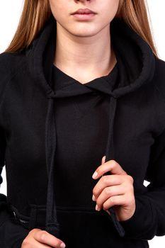 Damen Pullover mit Kapuze, einfarbig Atlanta – Bild 4