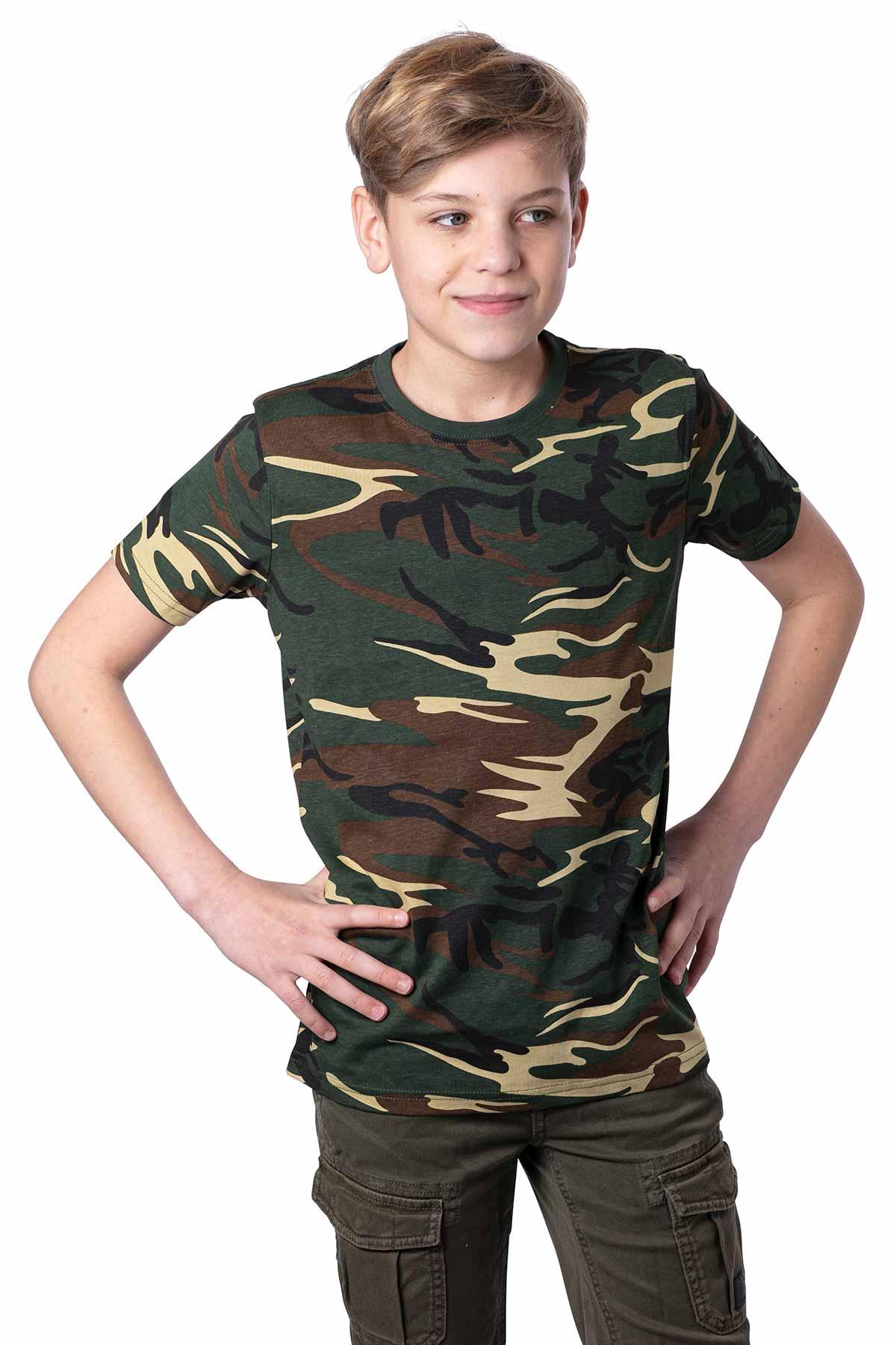 Jungen Camouflage T-Shirt