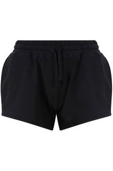 Kurze Damen Sporthose Schwarz – Bild 1