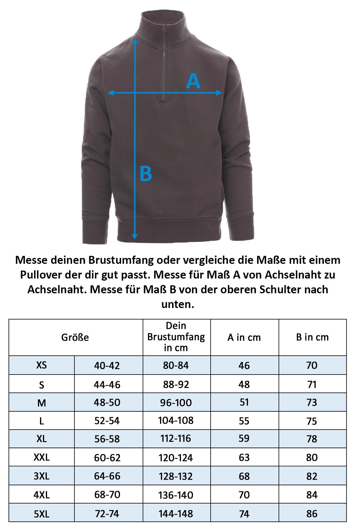 Herren Sweatshirt mit halbem Reißverschluss Canada