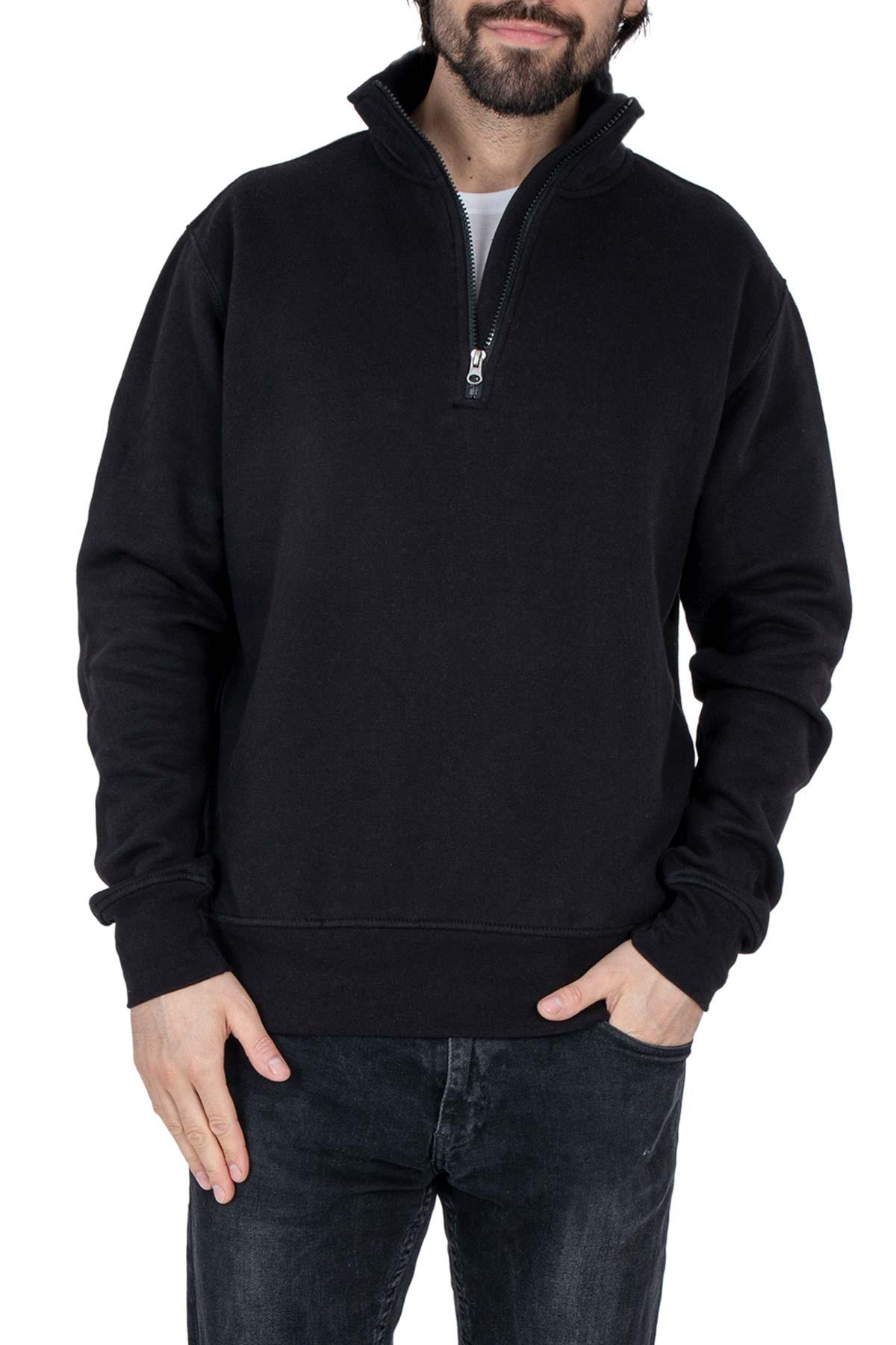 Herren Pullover 1/4 Zip Reißverschluss Canada
