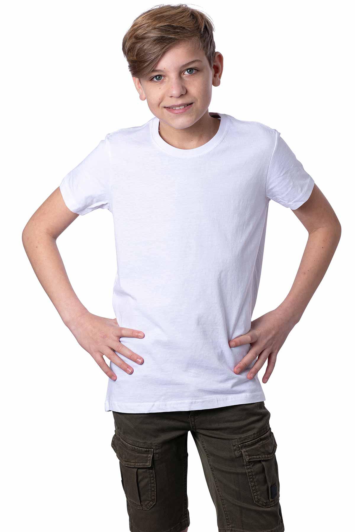 Jungen Basic T-Shirt 100% Baumwolle Sunset