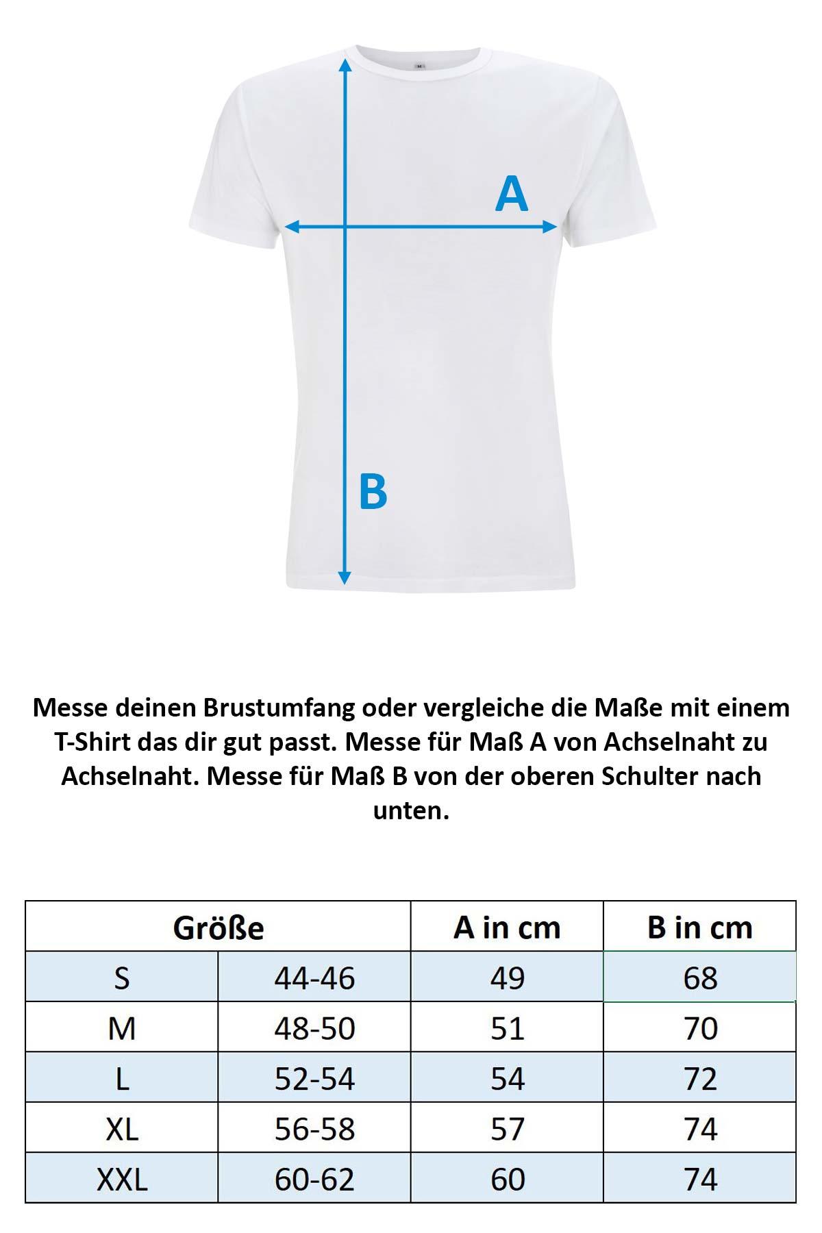 Größentabelle Herren T-Shirt N45