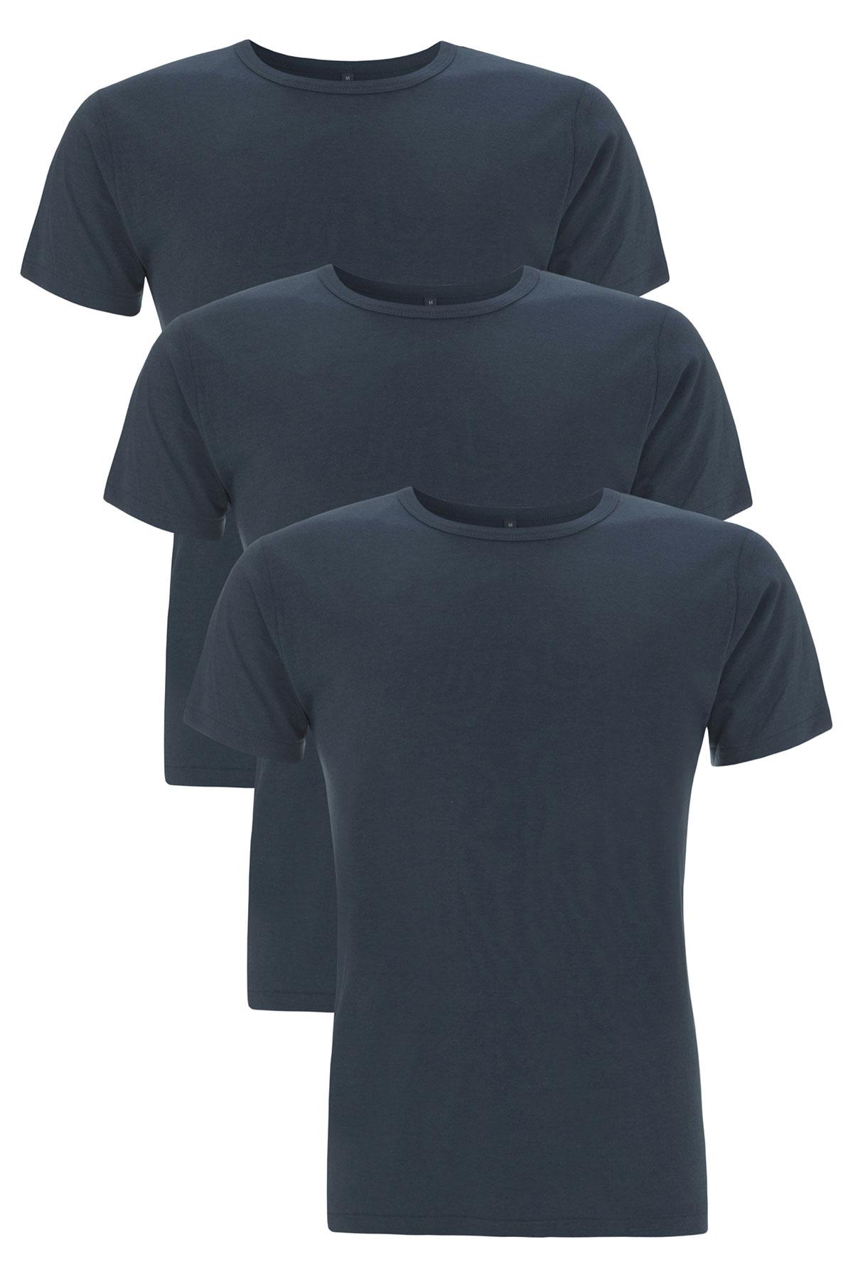 [Paket] Herren 3er Pack T-Shirt Fairtrade Rundhals N45
