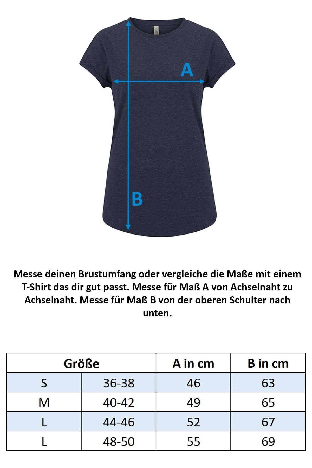 Größentabelle Damen T-Shirt SA16