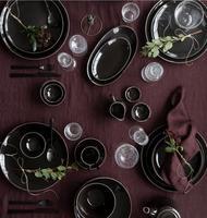 Broste Copenhagen NORDIC COAL Schale Suppenteller Salatteller Ø 22,5 x H 4,8 cm – Bild 2