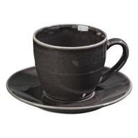 Broste Copenhagen NORDIC COAL Kaffeetasse mit Unterteller