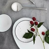 Broste Copenhagen  NEW in 2017 Serie SALT Dessert Teller zart gesprenkelt Ø 18 x H 1,2 cm Broste Copenhagen  NEW in 2017 Serie SALT Dessert Teller zart gesprenkelt Ø 18