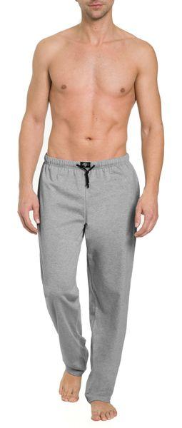 Herren Pyjamahose lang mit Seitentaschen, Single Jersey, reine Baumwolle – Bild 1