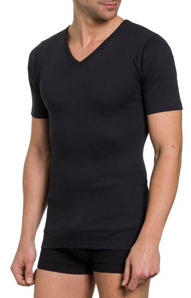 Herren Shirt 2er Pack, V-Ausschnitt,1/2 Arm,  Feinripp; reine Baumwolle – Bild 5