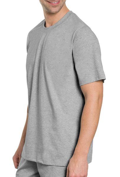 Herren T-Shirt 2er Pack,  Rundhals, 1/2 Arm, Single Jersey, reine Baumwolle – Bild 3