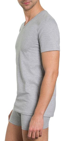 Herren Shirt 2er Pack,V-Ausschnitt, 1/2 Arm, Single Jersey,  Baumwolle/Elasthan – Bild 4