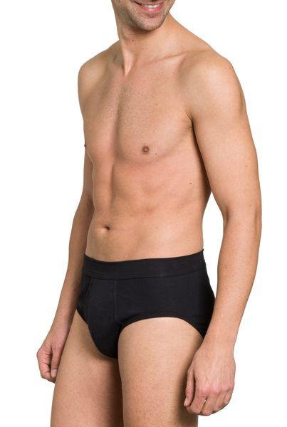 Herren Slip 3er Pack, mit Eingriff, Feinripp, reine Baumwolle, elastischer Weichbund – Bild 4