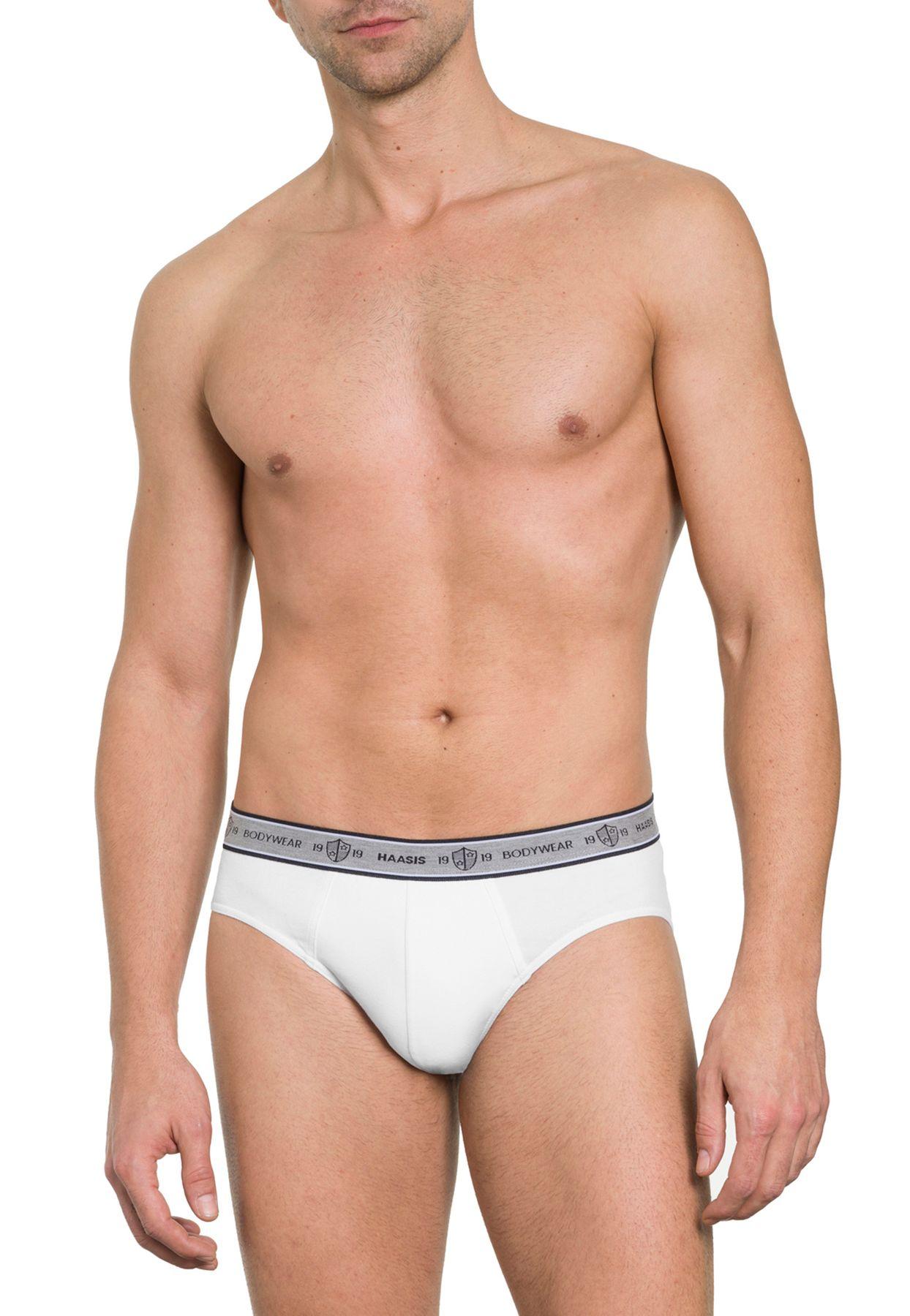 more photos b439a 43fd6 Herren Slip 3er Pack ohne Eingriff, Single Jersey, Baumwolle/Elasthan,  Webgummibund mit eingewebtem Bodywear Logo