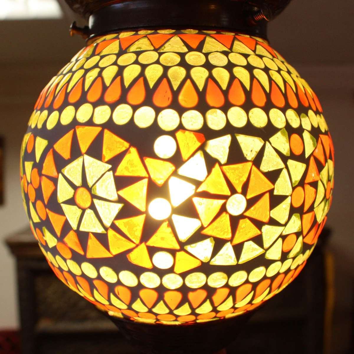 h nge mosaik lampen rund orientalisch dekoleuchte deckenleuchte leuchte gr n orange color 14 cm. Black Bedroom Furniture Sets. Home Design Ideas