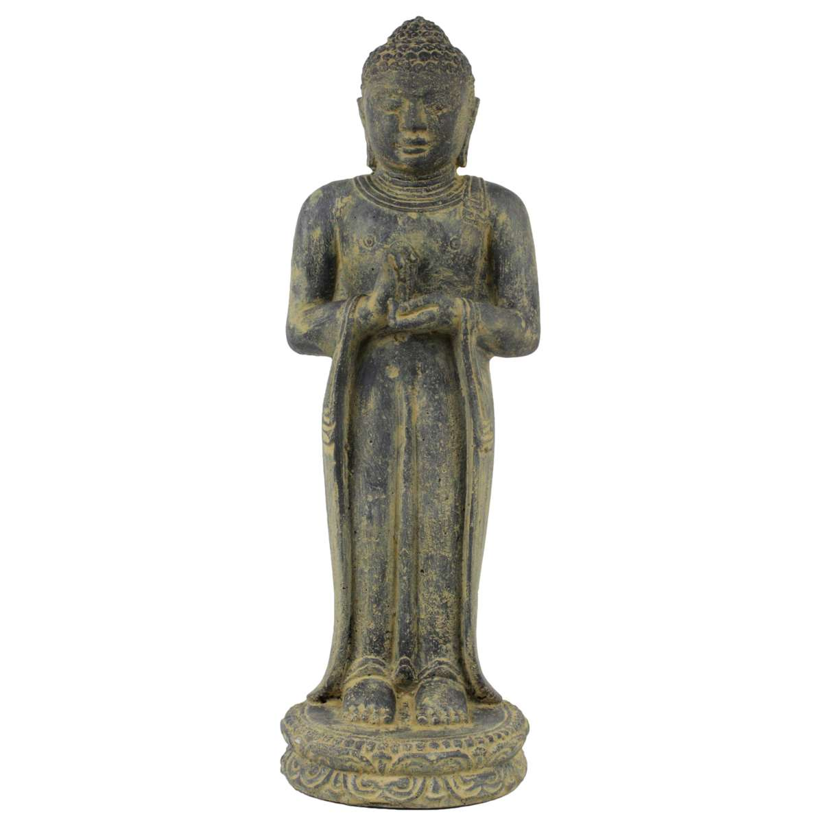 buddha figur skulptur stein gartenfigur lavasand bali buddha gott deko 50 cm ebay. Black Bedroom Furniture Sets. Home Design Ideas