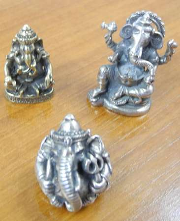Messing Figuren Shiva Buddha Ganesha & Co 5er Set 36 – Bild 3