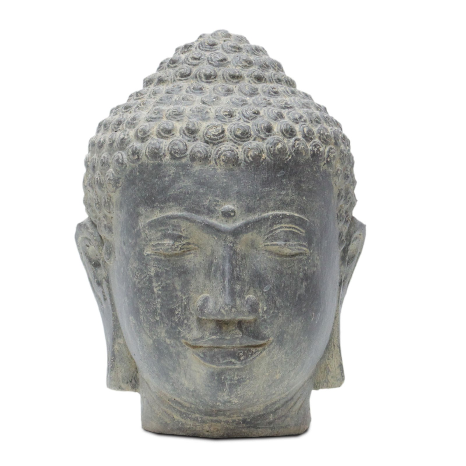 buddha kopf head figur skulptur stein lavasand bali garten deko 33cm ebay. Black Bedroom Furniture Sets. Home Design Ideas