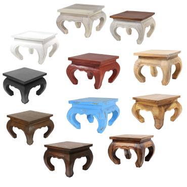Opiumtisch Opium Tisch Beistelltisch Massiv Holz Couchtisch Nachttisch Hocker