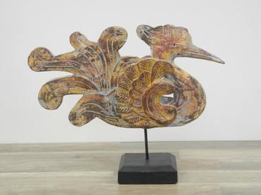 Schwan Vogel Holz Reier Vogel Asien Tierfigur Skulptur 45cm Nr. 8314 – Bild 3