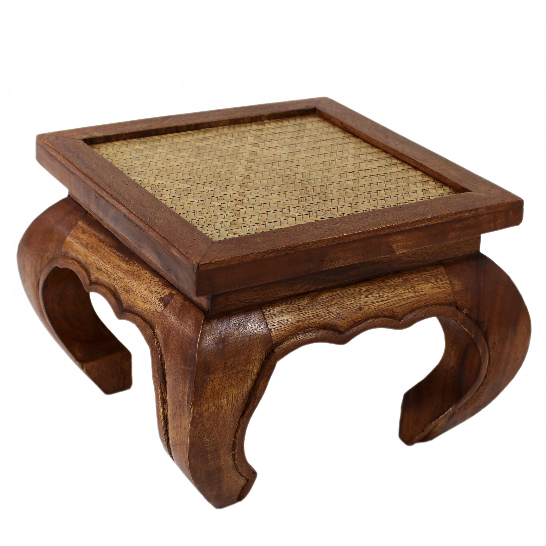 Opiumtisch Tisch Beistelltisch Massiv Holz Couchtisch Nachttisch Rattan  Antik U2013 Bild 5