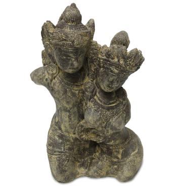 Rama Sita Figur Skulptur Stein Gott Buddha Statue Lavasand Bali Garten Deko 43cm – Bild 1