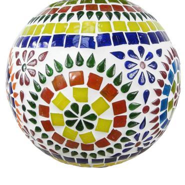 Hänge Mosaik Lampen Rund Orientalisch Dekoleuchte Wandleuchte Laterne Deckenleuchte Bunt Color19cm Ø Nr. 1 001
