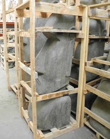 Osterinsel Moai Figur Skulptur Stein Lavasand Bali Tiki Garten Hawaii Deko 120cm – Bild 6